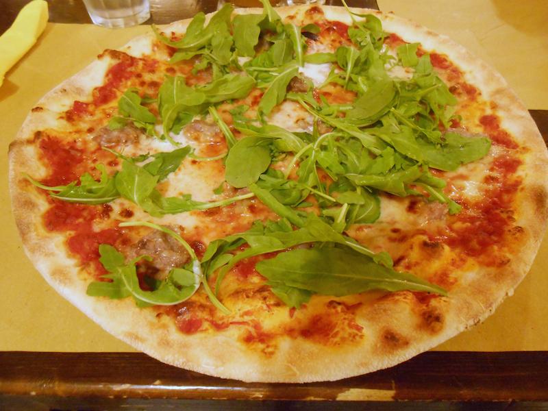 Homemade pizza parmigiana!